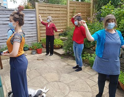 Movement work outside with Dorothea Magonet