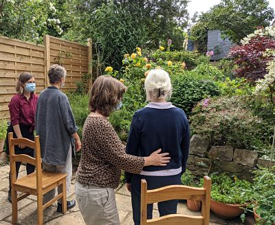 Hands-on work in the garden